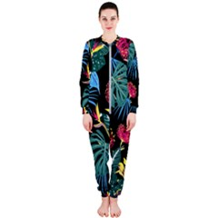 Fancy Tropical Pattern Onepiece Jumpsuit (ladies)  by tarastyle