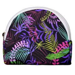 Fancy Tropical Pattern Horseshoe Style Canvas Pouch by tarastyle
