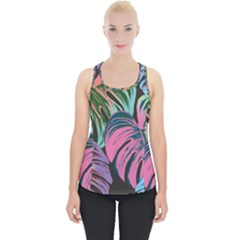 Fancy Tropical Pattern Piece Up Tank Top by tarastyle