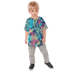 Fancy Tropical Pattern Kids  Raglan Tee by tarastyle