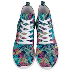 Fancy Tropical Pattern Men s Lightweight High Top Sneakers by tarastyle