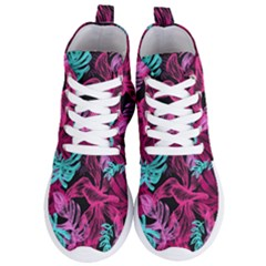 Fancy Tropical Pattern Women s Lightweight High Top Sneakers by tarastyle