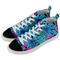 Fancy Tropical Pattern Men s Mid Top Canvas Sneakers by tarastyle