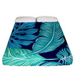 Fancy Tropical Pattern Fitted Sheet (queen Size) by tarastyle