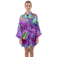 Fancy Tropical Pattern Long Sleeve Kimono Robe by tarastyle