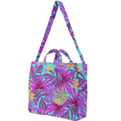 Fancy Tropical Pattern Square Shoulder Tote Bag by tarastyle