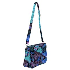Cute Abstract Pattern  Shoulder Bag With Back Zipper