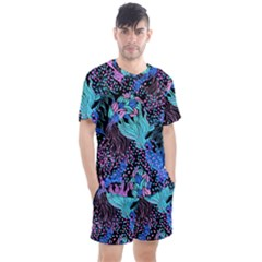 Cute Abstract Pattern  Men s Mesh Tee And Shorts Set by tarastyle