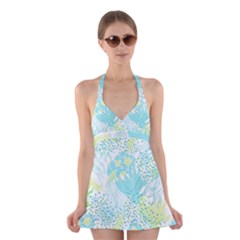 Cute Abstract Pattern  Halter Dress Swimsuit  by tarastyle