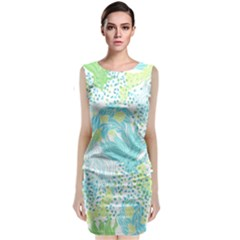 Cute Abstract Pattern  Classic Sleeveless Midi Dress