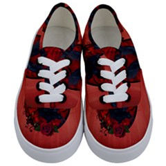 The Crow With Roses Kids  Classic Low Top Sneakers
