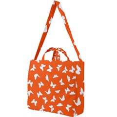 Butterfly Pattern Square Shoulder Tote Bag