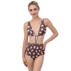 Butterfly Pattern Tied Up Two Piece Swimsuit by tarastyle