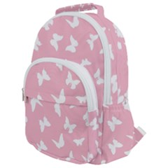 Butterfly Pattern Rounded Multi Pocket Backpack