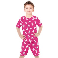 Butterfly Pattern Kids  Tee And Shorts Set by tarastyle