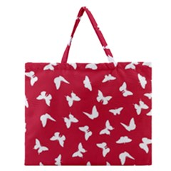 Butterfly Pattern Zipper Large Tote Bag