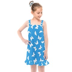 Butterfly Pattern Kids  Overall Dress by tarastyle