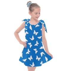 Butterfly Pattern Kids  Tie Up Tunic Dress