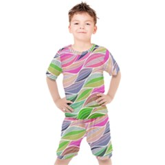 Abstract Art Kids  Tee And Shorts Set by tarastyle