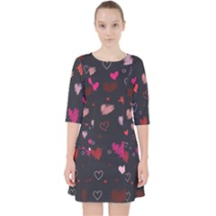Heart Pattern Pocket Dress by tarastyle
