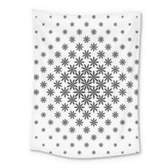 Black And White Pattern Medium Tapestry by tarastyle