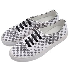 Black And White Pattern Women s Classic Low Top Sneakers by tarastyle