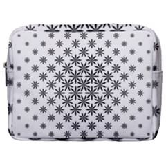 Black And White Pattern Make Up Pouch (large)