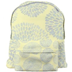 Spring Dahlia Print - Pale Yellow & Light Blue Giant Full Print Backpack by WensdaiAmbrose