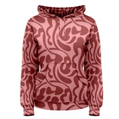 Red Floral Pattern Women s Pullover Hoodie by tarastyle