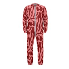 Red Floral Pattern Onepiece Jumpsuit (kids) by tarastyle