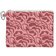 Red Floral Pattern Canvas Cosmetic Bag (xxl)
