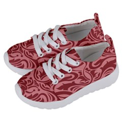 Red Floral Pattern Kids  Lightweight Sports Shoes by tarastyle