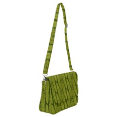Fern Texture Nature Leaves Shoulder Bag With Back Zipper by Jojostore
