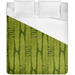 Fern Texture Nature Leaves Duvet Cover (california King Size) by Jojostore