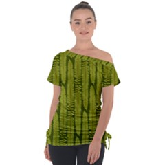 Fern Texture Nature Leaves Tie Up Tee by Jojostore