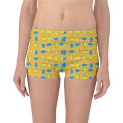 Lemons Ongoing Pattern Texture Boyleg Bikini Bottoms