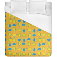 Lemons Ongoing Pattern Texture Duvet Cover (california King Size) by Mariart