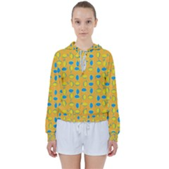 Lemons Ongoing Pattern Texture Women s Tie Up Sweat