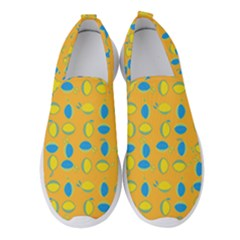 Lemons Ongoing Pattern Texture Women s Slip On Sneakers by Mariart