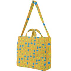 Lemons Ongoing Pattern Texture Square Shoulder Tote Bag by Mariart