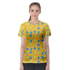Lemons Ongoing Pattern Texture Women s Sport Mesh Tee by Mariart