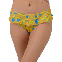 Lemons Ongoing Pattern Texture Frill Bikini Bottom