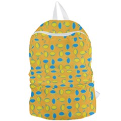 Lemons Ongoing Pattern Texture Foldable Lightweight Backpack by Mariart