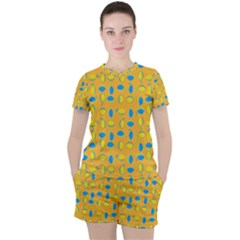 Lemons Ongoing Pattern Texture Women s Tee And Shorts Set