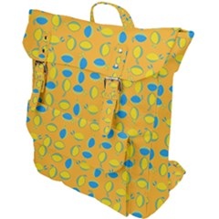 Lemons Ongoing Pattern Texture Buckle Up Backpack