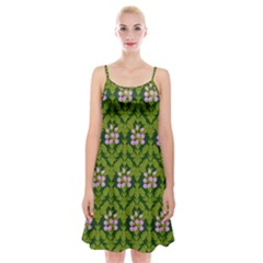 Pattern Nature Texture Heather Spaghetti Strap Velvet Dress