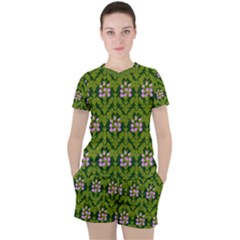 Pattern Nature Texture Heather Women s Tee And Shorts Set by Alisyart