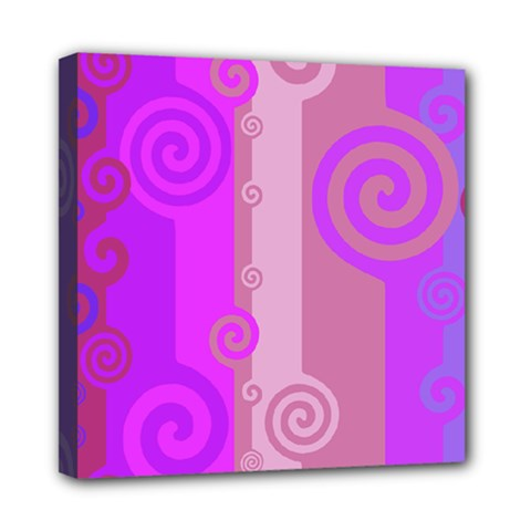 Ring Kringel Background Abstract Purple Mini Canvas 8  X 8  (stretched)