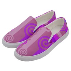 Ring Kringel Background Abstract Purple Men s Canvas Slip Ons by AnjaniArt