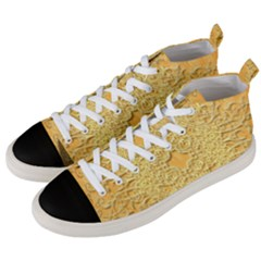 Elegant Decorative Floral Design Men s Mid Top Canvas Sneakers by FantasyWorld7